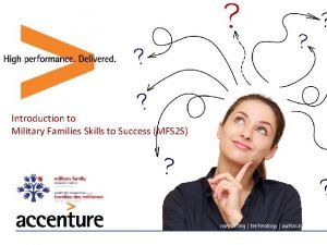 Introduction to Military Families Skills to Success MFS