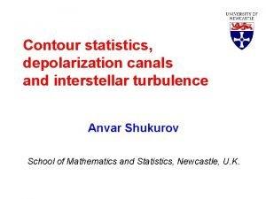 Contour statistics depolarization canals and interstellar turbulence Anvar