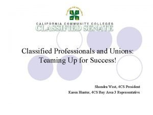 Classified Professionals and Unions Teaming Up for Success