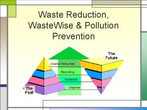 Waste Reduction Waste Wise Pollution Prevention Why Waste