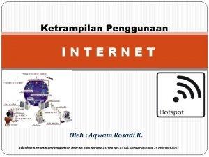 Ketrampilan Penggunaan INTERNET Oleh Aqwam Rosadi K Pelatihan
