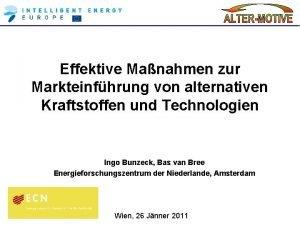 Effektive Manahmen zur Markteinfhrung von alternativen Kraftstoffen und
