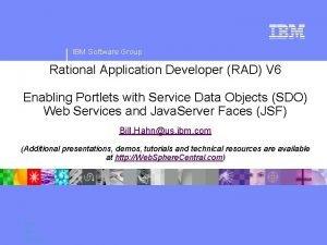 IBM Software Group Rational Application Developer RAD V
