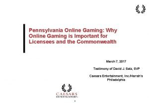 Pennsylvania Online Gaming Why Online Gaming is Important