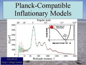 PlanckCompatible Inflationary Models John ELLIS Kings College London