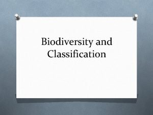 Biodiversity and Classification What is Biodiversity Biodiversity can