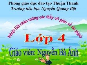 Phng gio dc o to Thun Thnh Trng