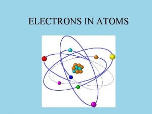 ELECTRONS IN ATOMS Address of electrons in atoms