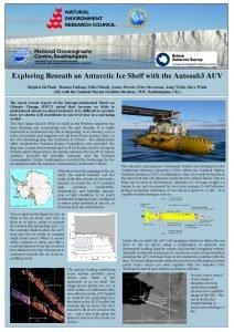 Exploring Beneath an Antarctic Ice Shelf with the