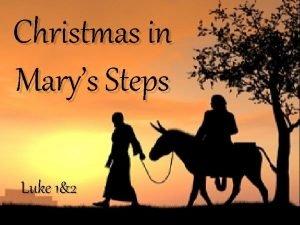 Christmas in Marys Steps Luke 12 Luke 1