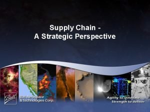 Supply Chain A Strategic Perspective Can Supply Chain