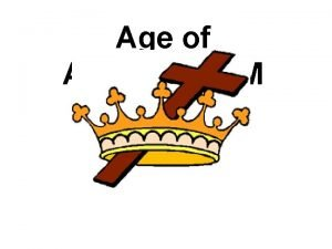 Age of ABSOLUTISM DIVINE RIGHT Theory Divine Right
