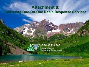 Attachment 8 Delivering OneOnOne Rapid Response Services Step