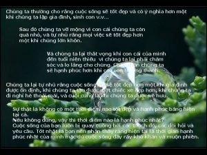 Chng ta thng cho rng cuc sng s