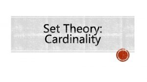 Cardinality of finite sets number of elements in