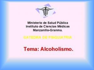 Ministerio de Salud Pblica Instituto de Ciencias Mdicas