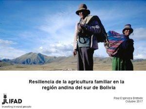 Resiliencia de la agricultura familiar en la regin
