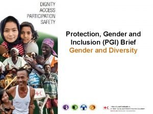 Protection Gender and Inclusion PGI Brief Gender and