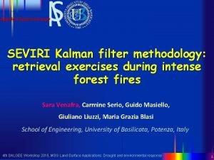 Applied Spectroscopy SEVIRI Kalman filter methodology retrieval exercises
