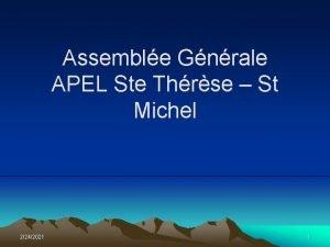 Assemble Gnrale APEL Ste Thrse St Michel 2242021