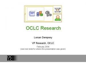 OCLC Research Lorcan Dempsey VP Research OCLC February