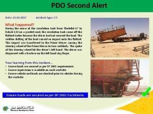 PDO Second Alert Date 23 03 2017 Incident