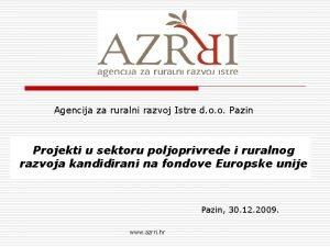 Agencija za ruralni razvoj Istre d o o