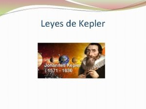 Leyes de Kepler Las tres leyes de Kepler