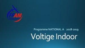 Voltige Indoor GT Voltige Indoor BP Janvier 2018