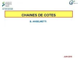 CHAINES DE COTES B ANSELMETTI JUIN 2016 PLAN