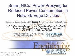 SmartNICs Power Proxying for Reduced Power Consumption in