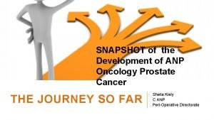 SNAPSHOT of the Development of ANP Oncology Prostate