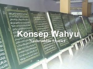 Konsep Wahyu Nashruddin Syarief Dekonstruksi Konsep Wahyu alQuran
