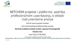 NETCHEM projekat i platforma podrka profesionalnom usavravanju iz