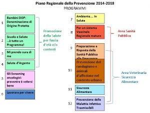 Piano Regionale della Prevenzione 2014 2018 PROGRAMMI 1
