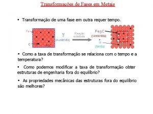 Transformaes de Fases em Metais Transformao de uma