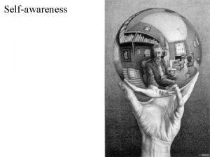 Selfawareness Maintaining a complex society requires culture and