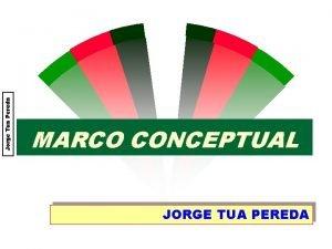 Jorge Tua Pereda MARCO CONCEPTUAL JORGE TUA PEREDA