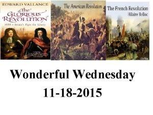Wonderful Wednesday 11 18 2015 Enduring Understanding Conflict
