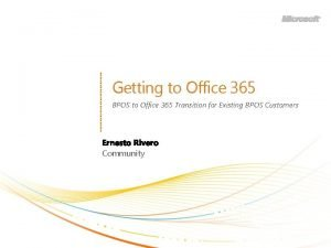 Getting to Office 365 BPOS to Office 365