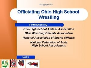 Copyright 2016 Officiating Ohio High School Wrestling Contributions