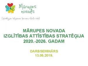 MRUPES NOVADA IZGLTBAS ATTSTBAS STRATIJA 2020 2026 GADAM