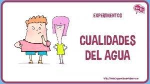 EXPERIMENTOS CUALIDADES DEL AGUA http www logopediasanchinarro es