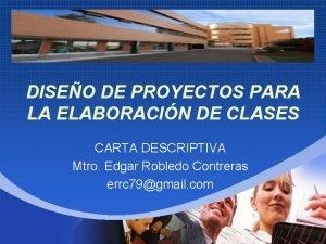 Company LOGO DISEO DE PROYECTOS PARA LA ELABORACIN
