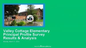 Valley Cottage Elementary Principal Profile Survey Results Analysis