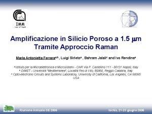 Amplificazione in Silicio Poroso a 1 5 m