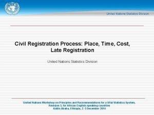 Civil Registration Process Place Time Cost Late Registration