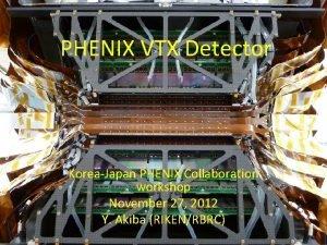 PHENIX VTX Detector KoreaJapan PHENIX Collaboration workshop November