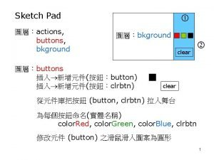 Sketch Pad actions buttons bkground bkground buttons button