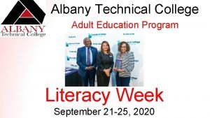 Albany Technical College Adult Education Program Literacy Week